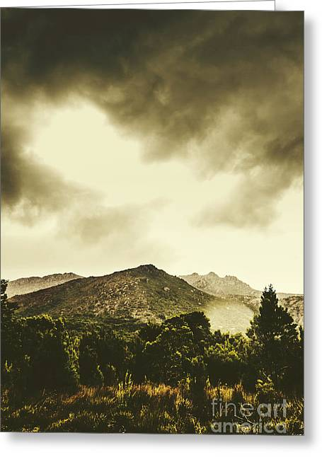 Atmospheric Hills And Valleys Greeting Card by Jorgo Photography - Wall Art Gallery