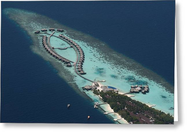 Atolls From The Air Greeting Card