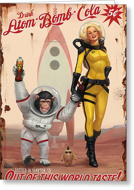 Atom Bomb Cola - Out Of This World Taste Greeting Card