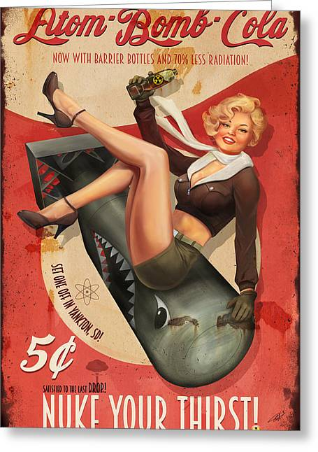 Atom Bomb Cola Greeting Card