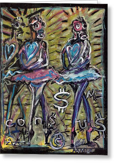 Atomic Ballet Greeting Card by Robert Wolverton Jr