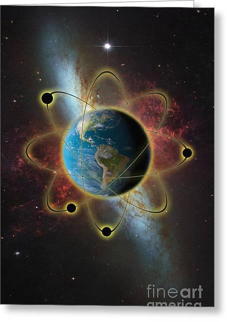 Atomic Earth Greeting Card
