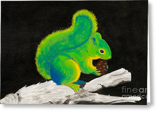 Atomic Squirrel Greeting Card