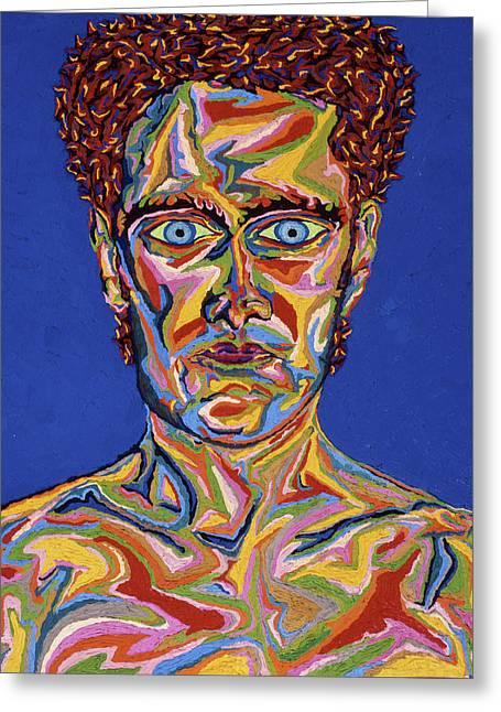 Atomic Visions - Self Portrait Greeting Card by Robert SORENSEN