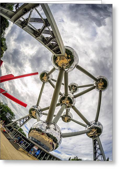 Atomium 4 Greeting Card by Pablo Lopez
