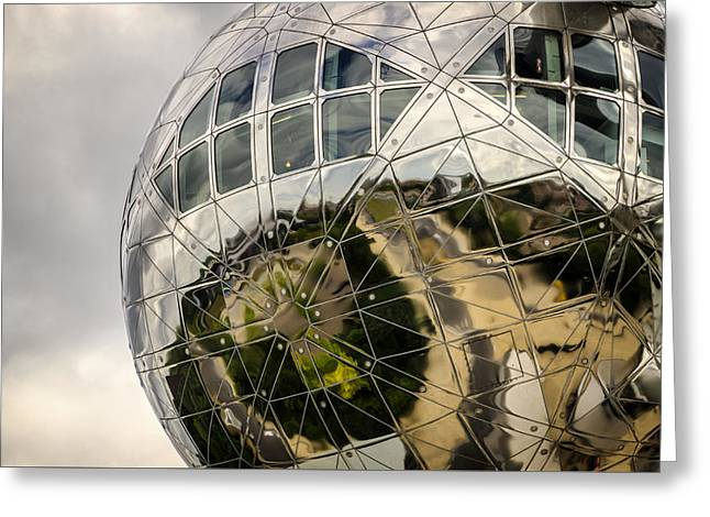 Atomium Greeting Card by Pablo Lopez