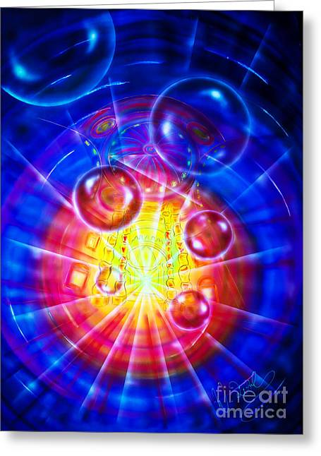 Atrium - Space 2 Greeting Card by Walter Zettl