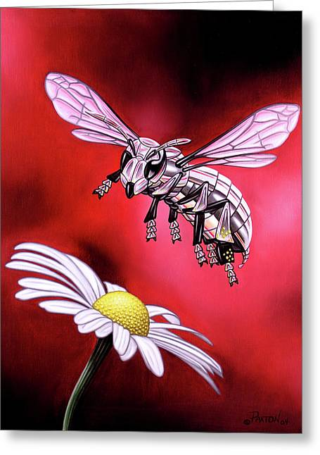 Attack Of The Silver Bee Greeting Card