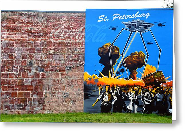 Attack On Saint Petersburg  Greeting Card by David Lee Thompson
