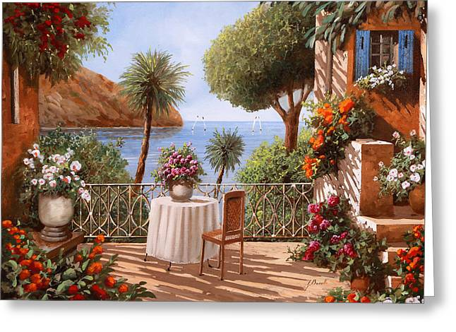 Attesa Di Qualcuno Greeting Card by Guido Borelli