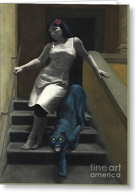 Attraction The Stairs Of Love Greeting Card by Kelly Borsheim