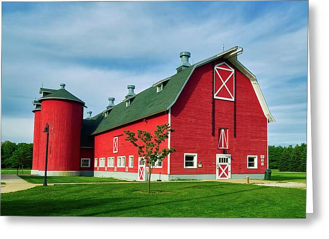 Attractive Red Barn Greeting Card by Mountain Dreams