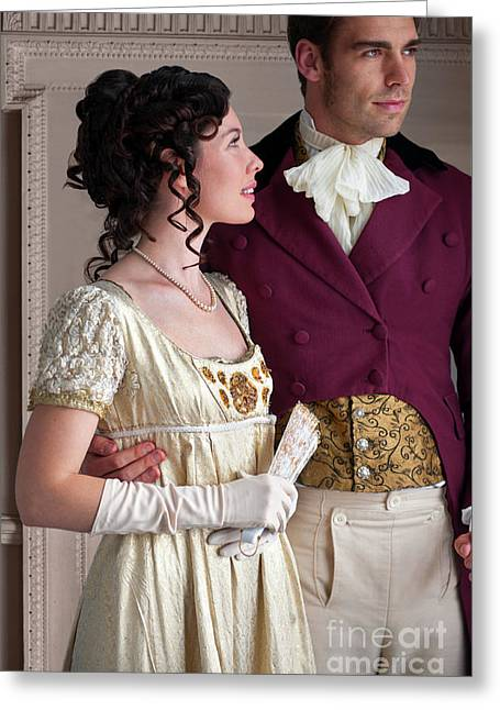 Attractive Regency Couple Greeting Card by Lee Avison