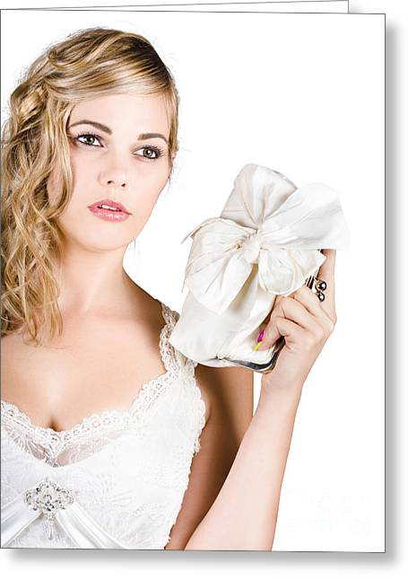 Attractive Young Bride Greeting Card by Jorgo Photography - Wall Art Gallery