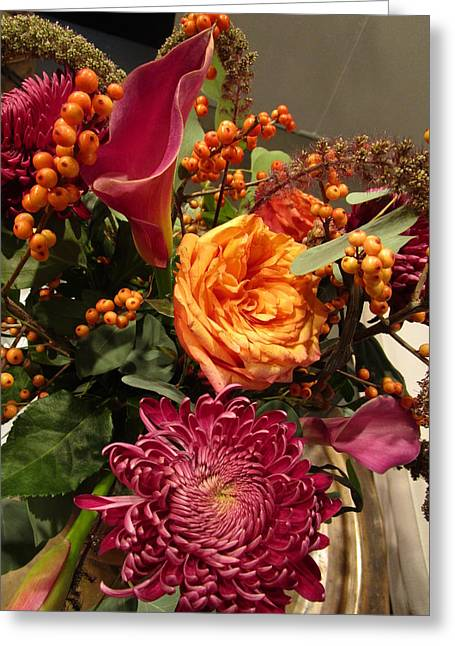 Attractively Arranged Bunch  Greeting Card by Rosita Larsson