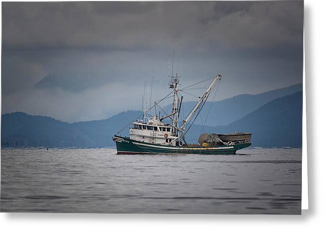 Greeting Card featuring the photograph Attu Off Madrona by Randy Hall