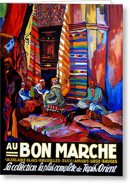 Au Bon Marche Greeting Card by Tom Roderick