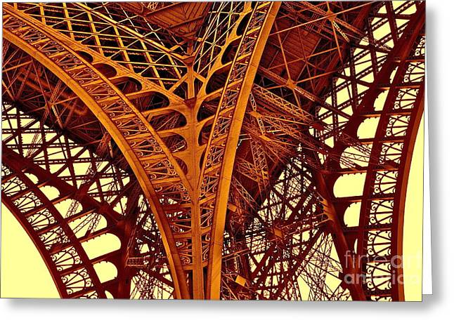 Au Pied De La Tour Eiffel Greeting Card
