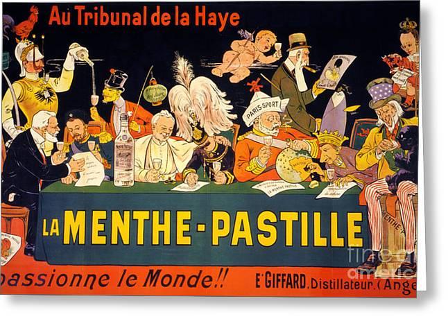 Au Tribunal De La Haye La Menthe Pastille Vintage Greeting Card