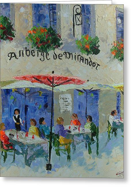 South Of France Greeting Cards - Auberge de Mirandol France Greeting Card by Frederic Payet