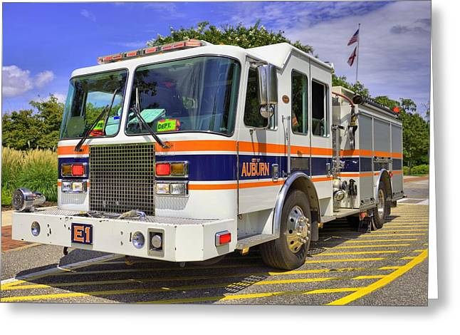Auburn Fire Department  Greeting Card by JC Findley