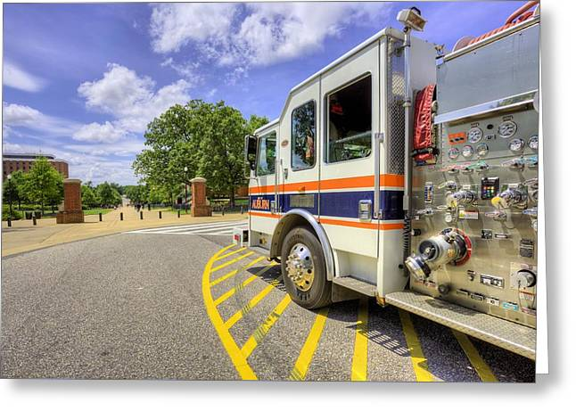 Auburn Fire Department Response Greeting Card by JC Findley