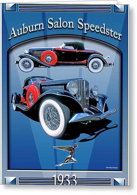 Auburn Salon Speedster V12 Greeting Card