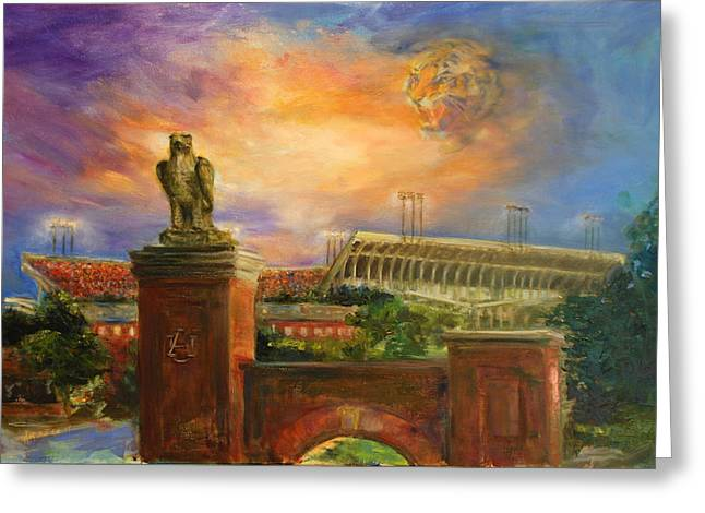 Auburn Skies Greeting Card by Ann Marshall Bailey