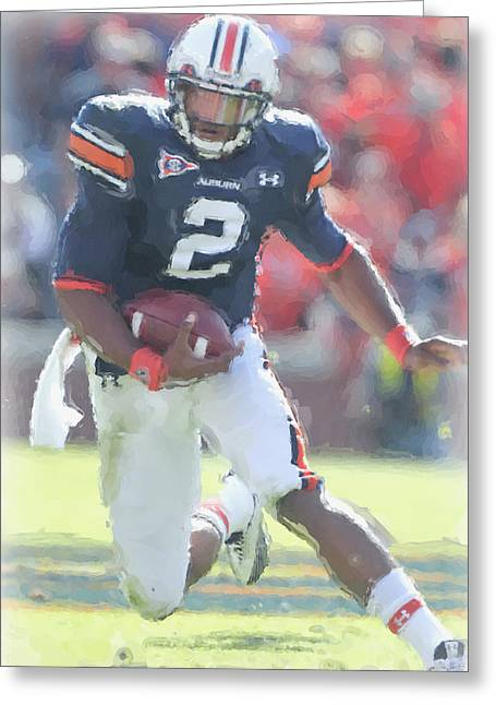 Auburn Tigers Cam Newton Greeting Card