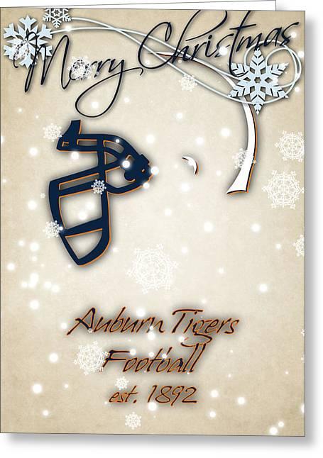 Auburn Tigers Christmas Card 2 Greeting Card by Joe Hamilton