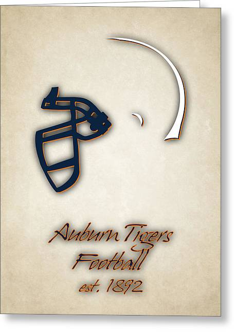 Auburn Tigers Helmet 2 Greeting Card by Joe Hamilton