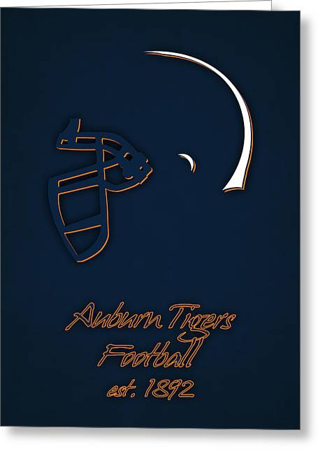 Auburn Tigers Helmet Greeting Card