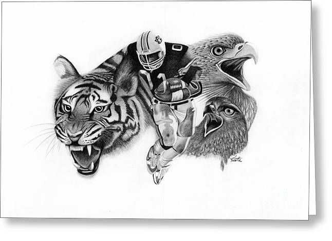 Auburn Tigers War Eagle Greeting Card by Bryan Knudsen