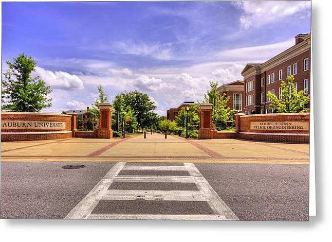 Auburn University Campus Life Greeting Card by JC Findley