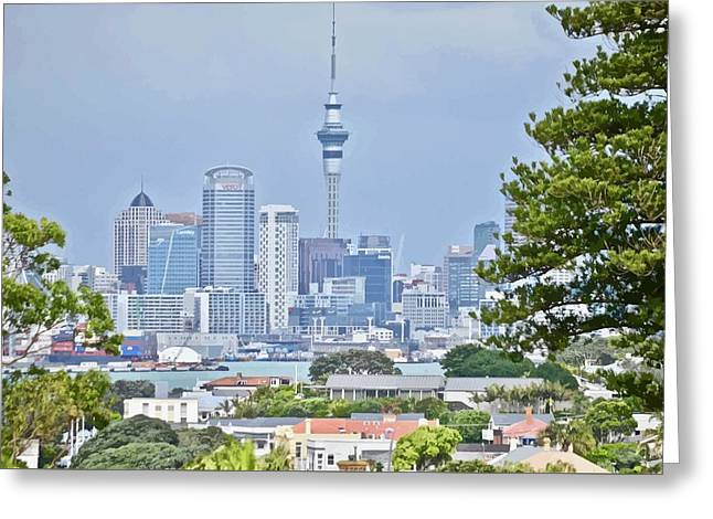 Auckland City C B D Greeting Card