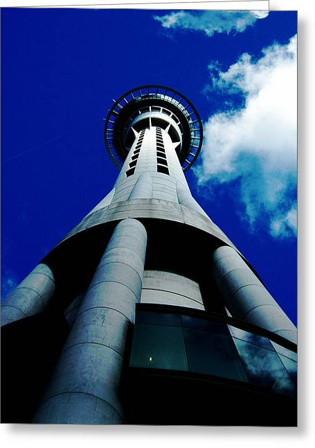 Auckland Sky Tower Greeting Card by Ashlee Terras