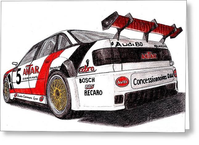 Audi 80 Quattro Greeting Card