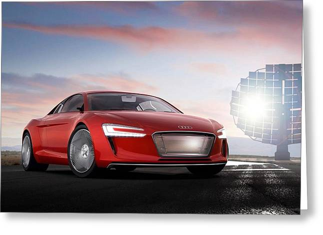 Audi E Tron 5 Wide Greeting Card