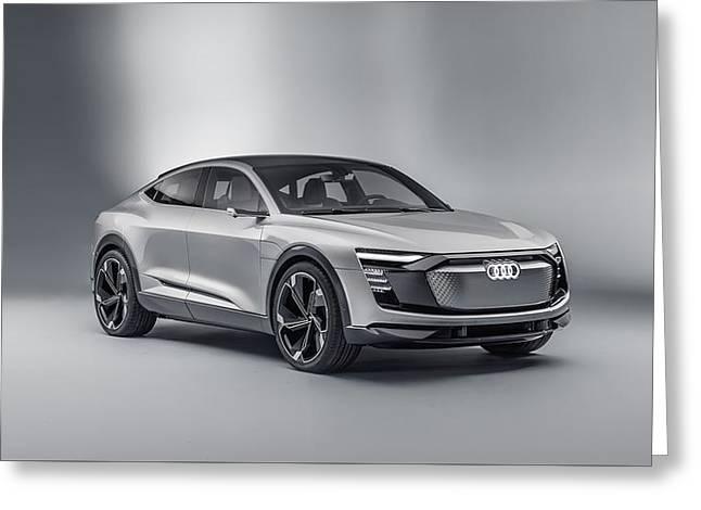 Audi E Tron Sportback Concept 3  Greeting Card