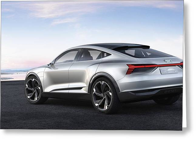 Audi E Tron Sportback Concept 5  Greeting Card