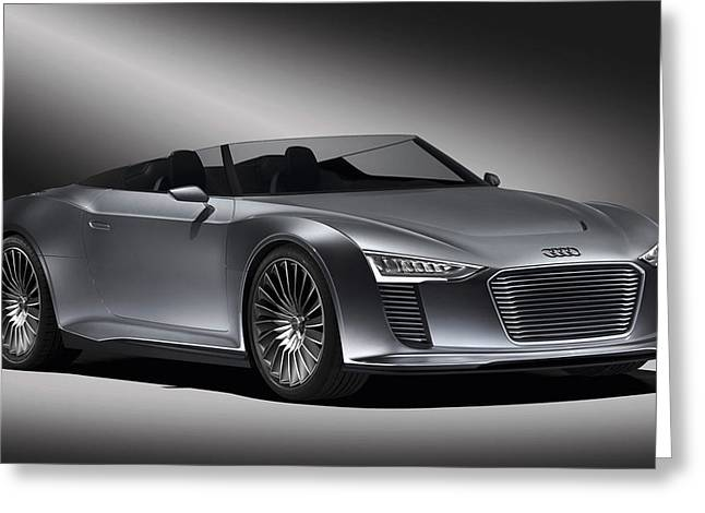 Audi E Tron Spyder Concept 3 Wide Greeting Card