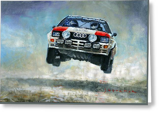 Audi Quattro Gr.4 1982 Greeting Card