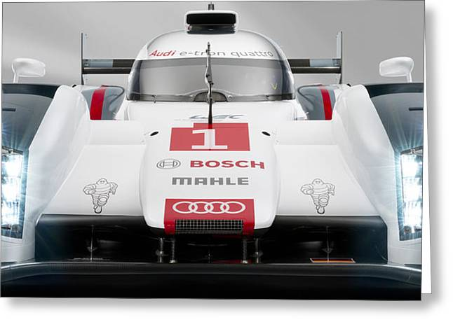 Audi R18 E Tron Greeting Card by Stephanie Hamilton