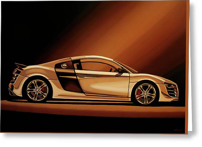 Audi R8 2007 Painting Greeting Card