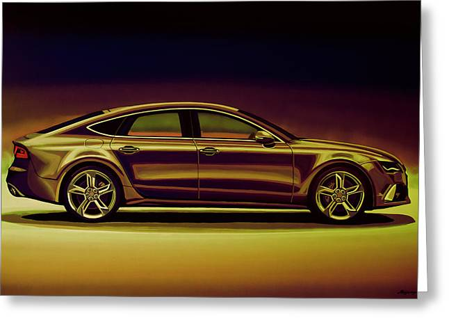 Audi Rs7 2013 Mixed Media Greeting Card