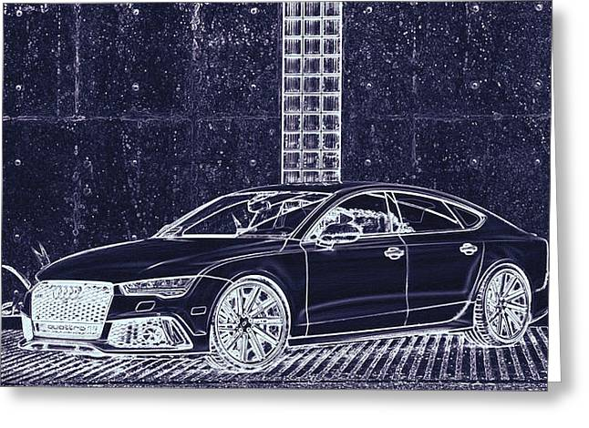 Audi Rs7 Vossen  Greeting Card