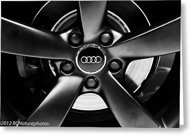 Audi Wheel  Monochrome Greeting Card