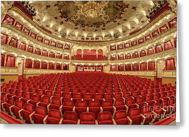Greeting Card featuring the photograph Auditorium Of The Great Theatre - Opera by Michal Boubin