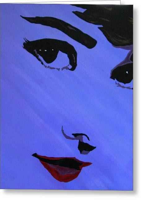 Audrey Hepburn-eyes For You Greeting Card