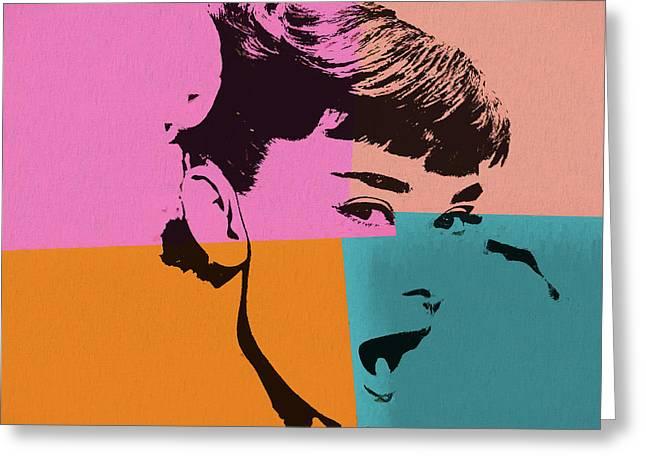 Audrey Hepburn Pop Art 2 Greeting Card by Dan Sproul